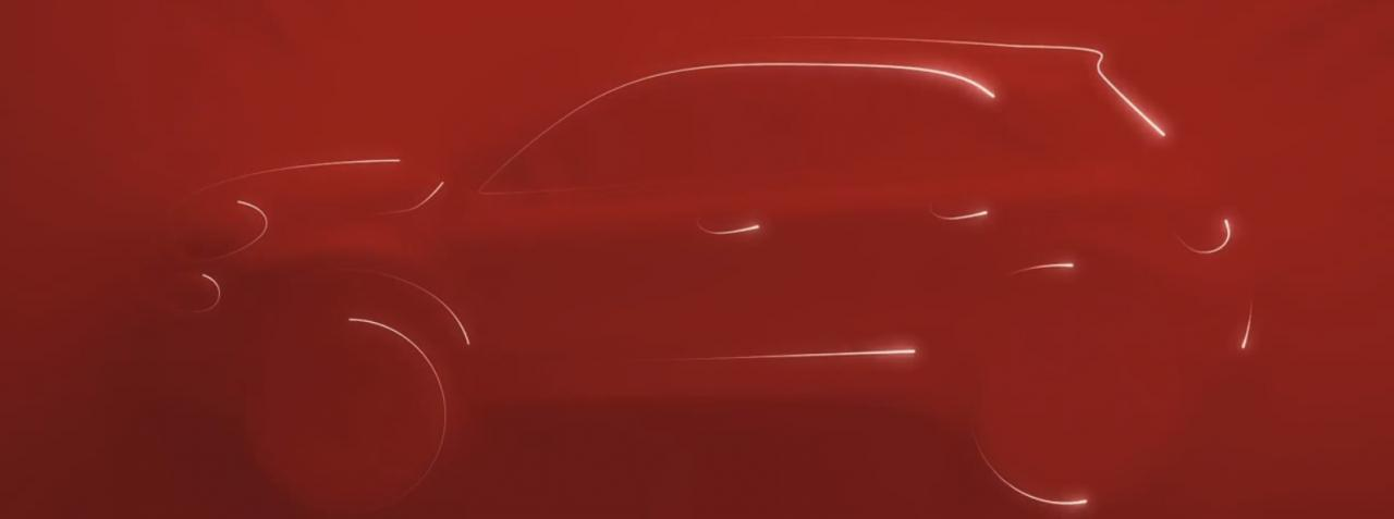 Fiat 500X teased side