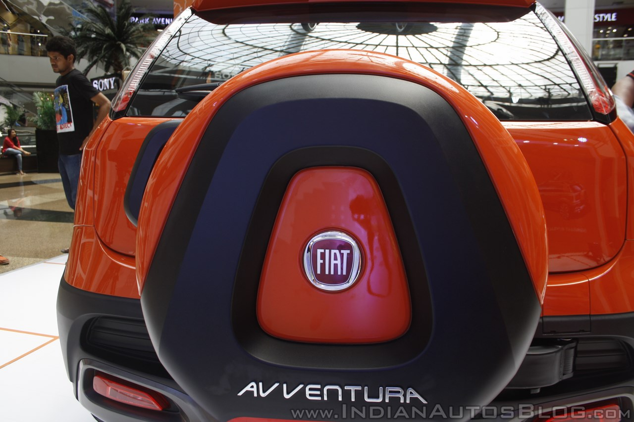 Fiat Avventura at Mumbai spare wheel