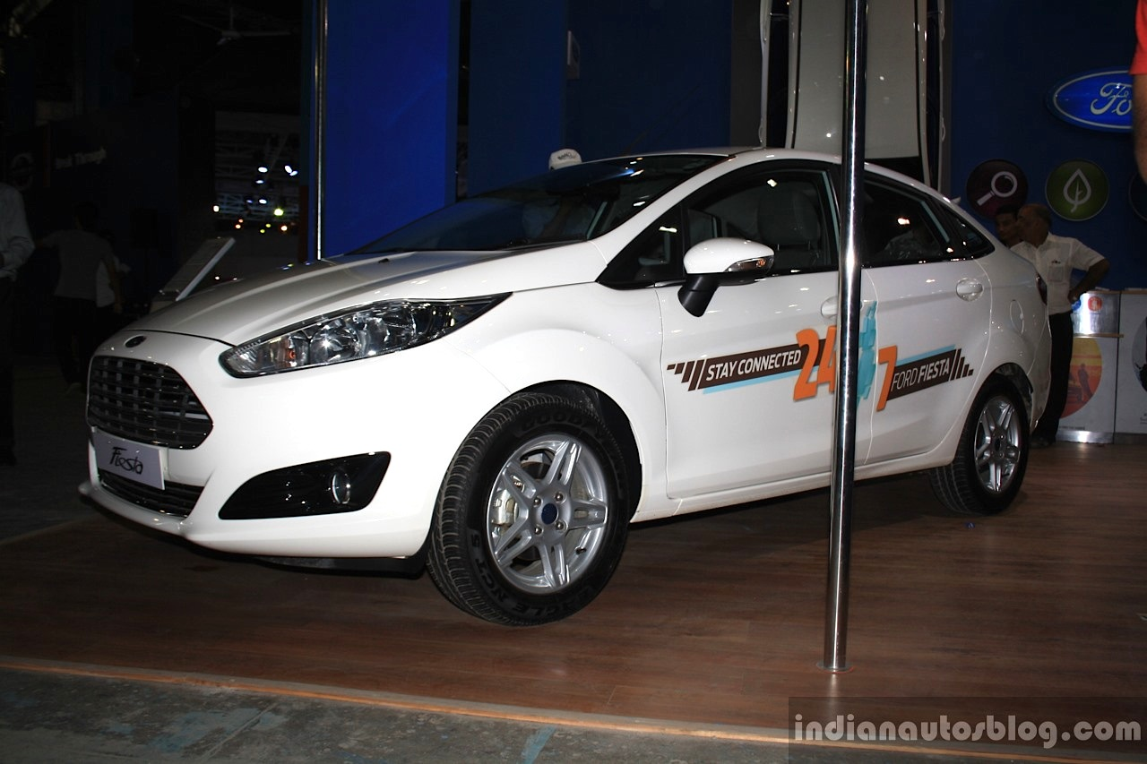 Ford Fiesta facelift front right three quarter at the 2014 Nepal Auto Show