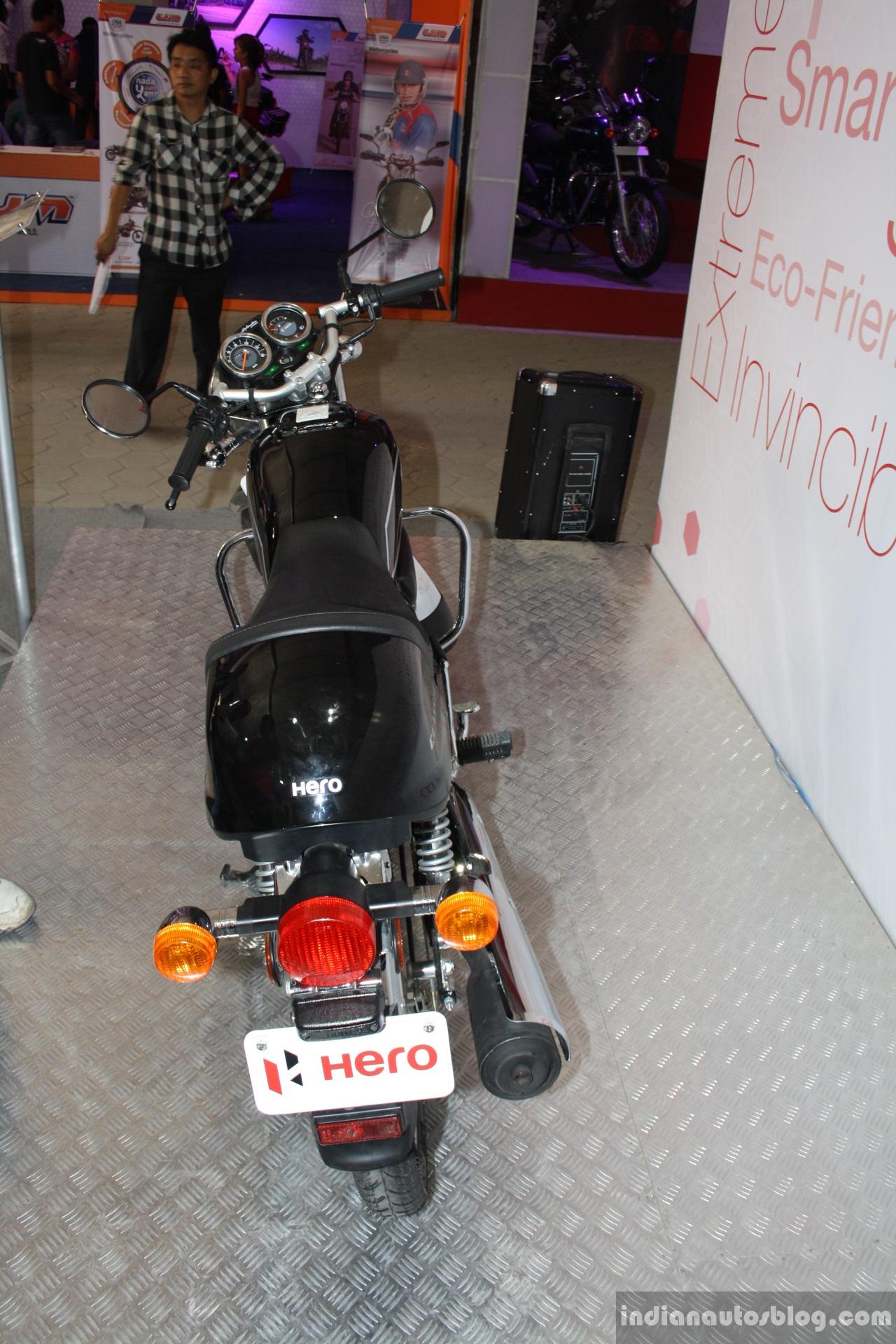 Hero Splendor Pro Classic rear at the 2014 Nepal Motor Show
