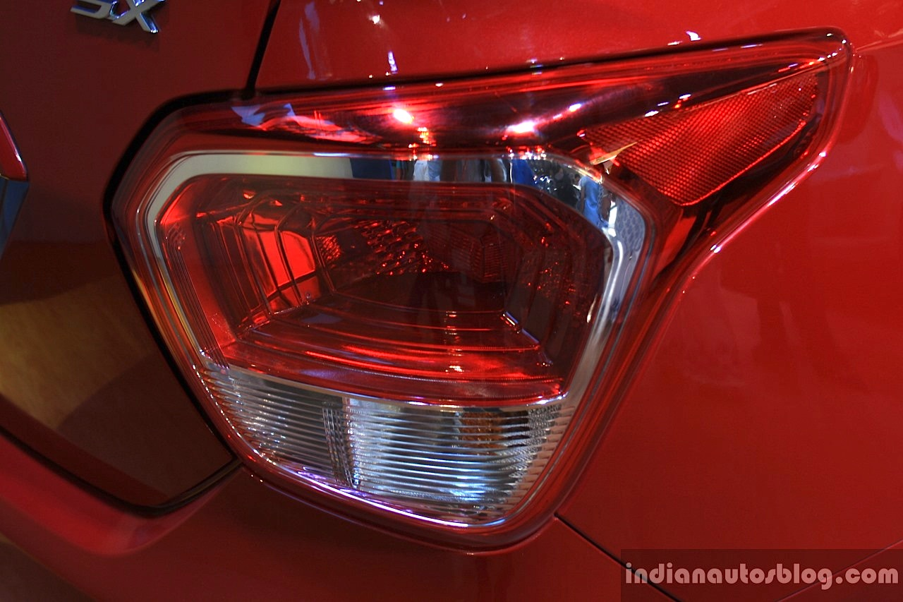 Hyundai Xcent taillight at the 2014 Nepal Auto Show