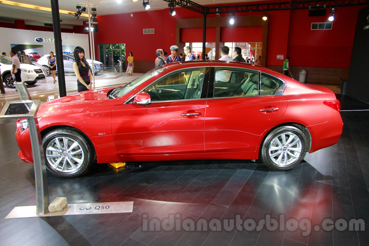 Infiniti Q50 side view at the 2014 Indonesia International Motor Show