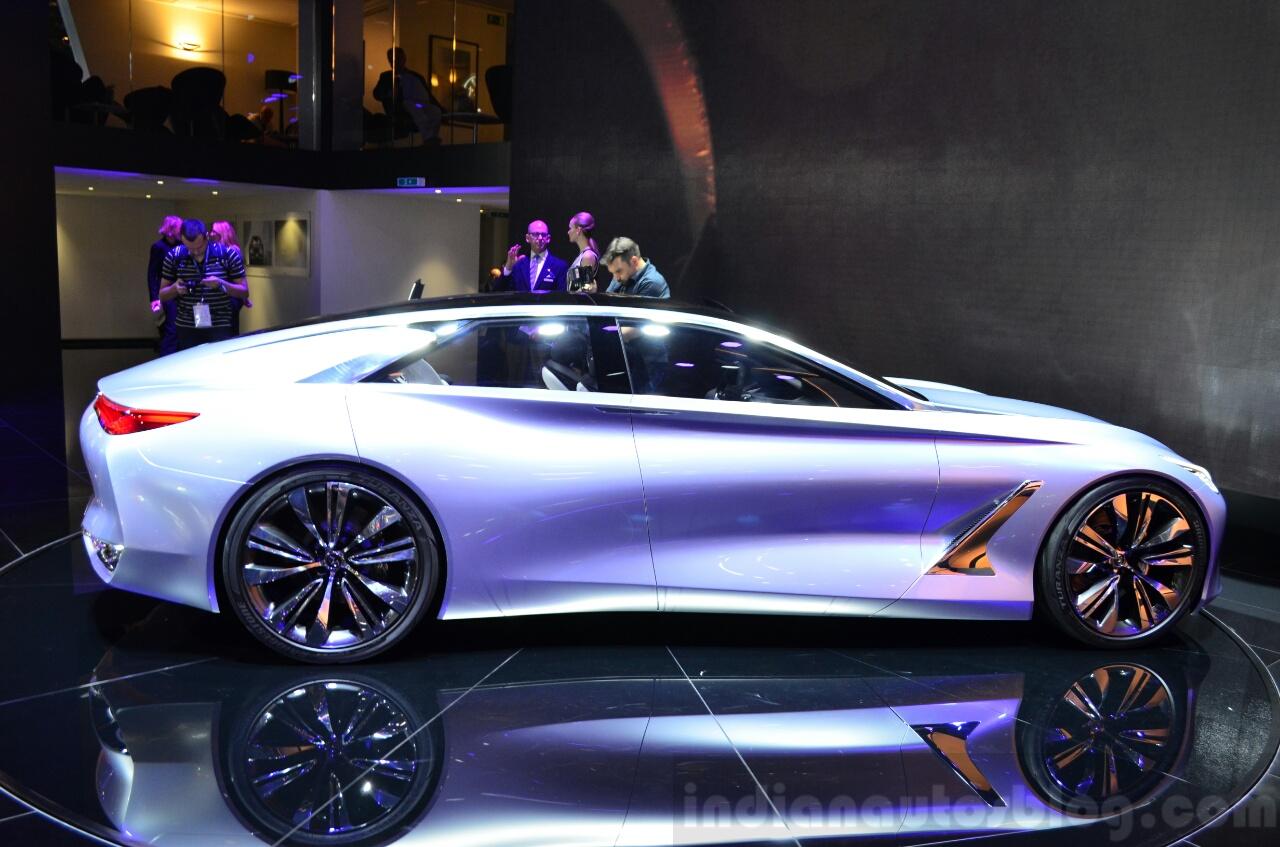 Infiniti Q80 Inspiration Concept side at the 2014 Paris Motor Show