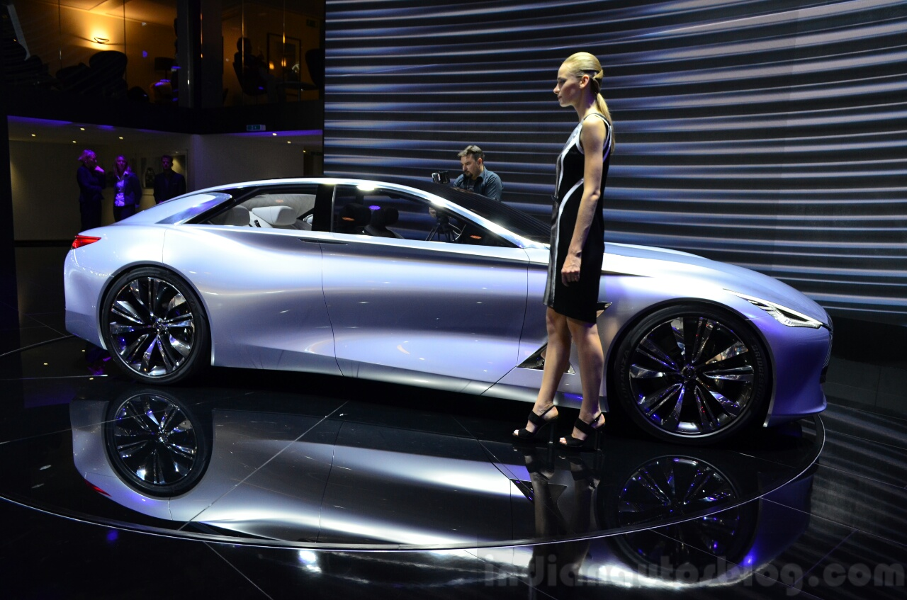 Infiniti Q80 Inspiration Concept side view at the 2014 Paris Motor Show