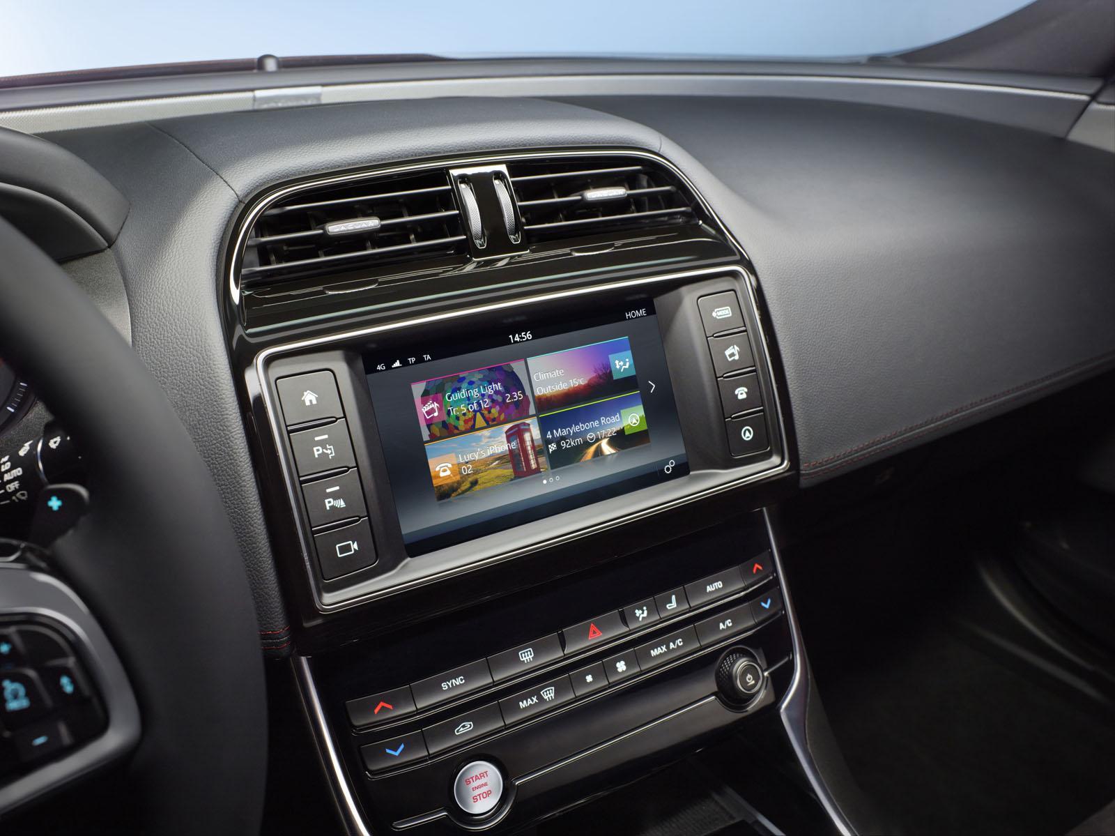 Jaguar XE InControl infotainment system official image