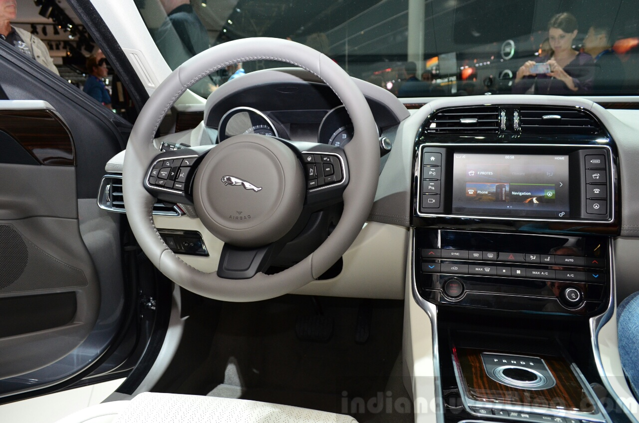 Jaguar XE cockpit at the 2014 Paris Motor Show