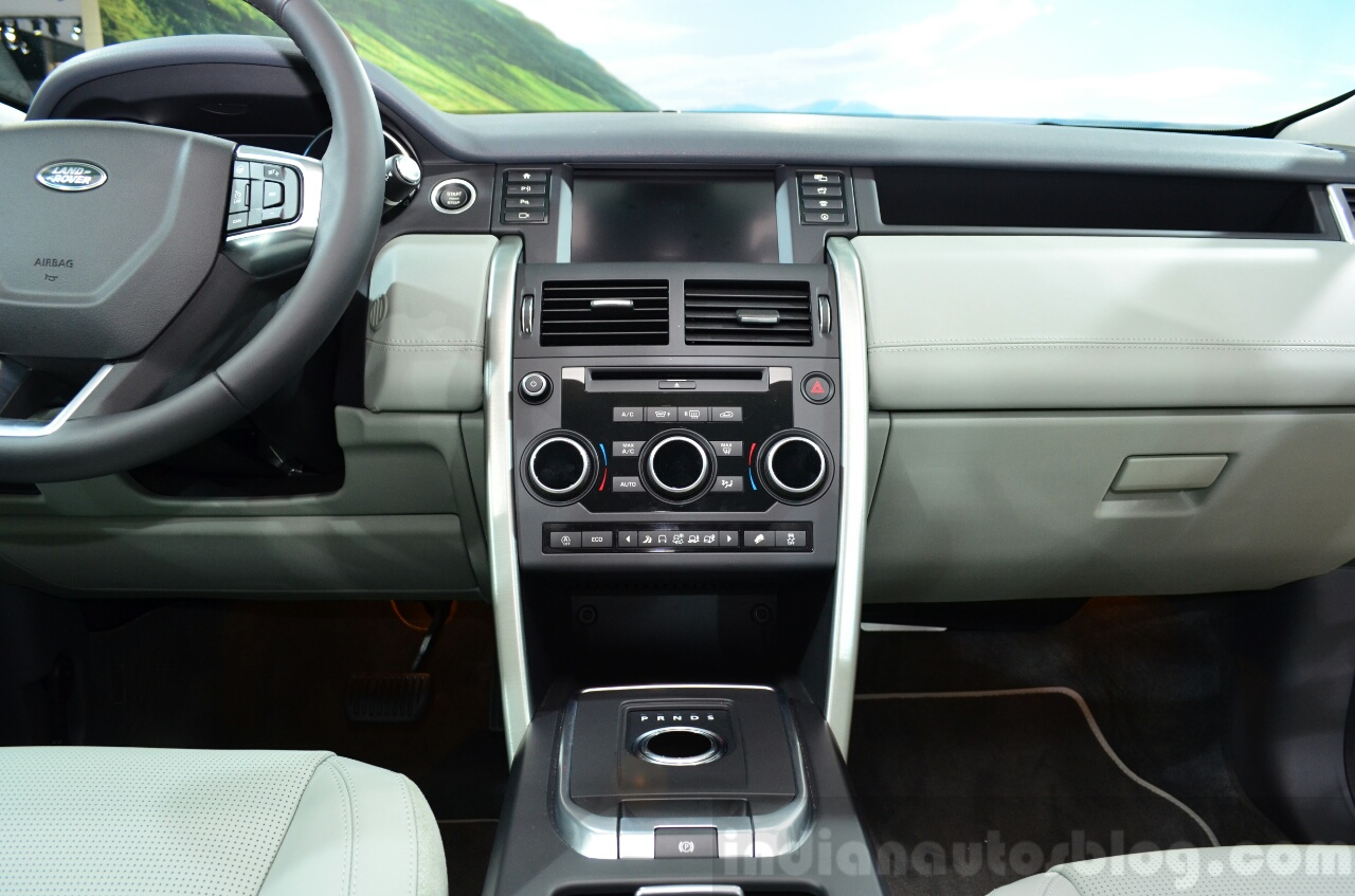 Land Rover Discovery Sport center console at the 2014 Paris Motor Show