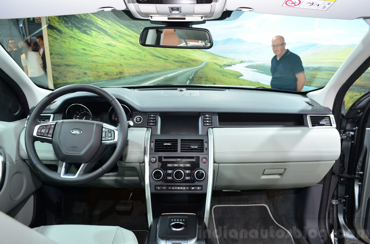 Land Rover Discovery Sport dashboard at the 2014 Paris Motor Show