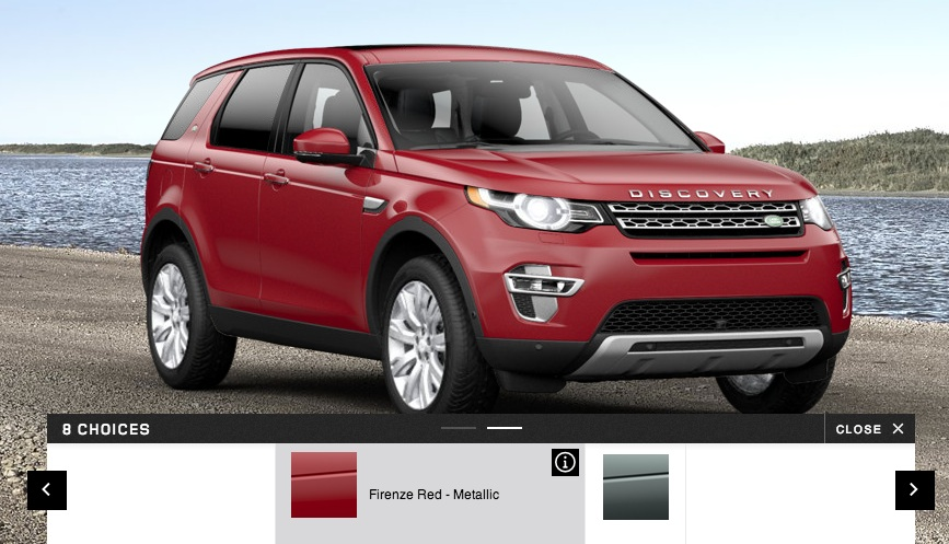 Land Rover Discovery Sport options red