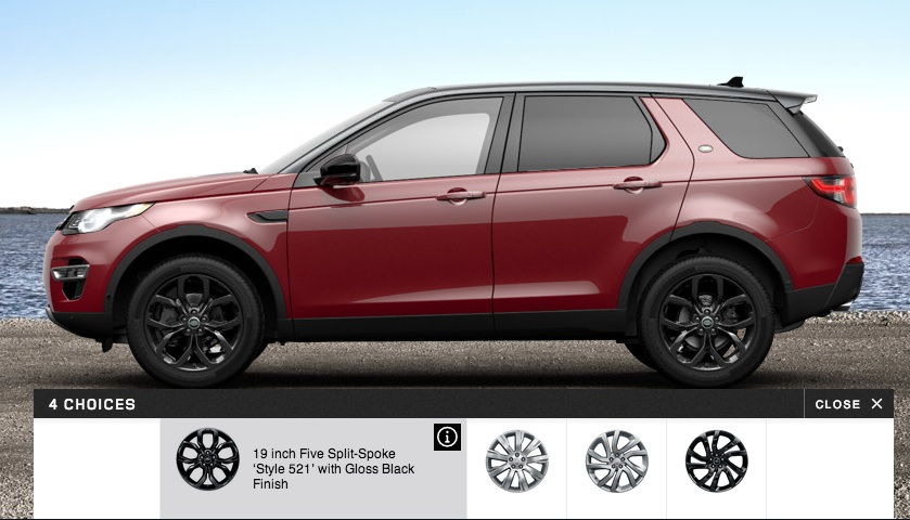 Land Rover Discovery Sport options wheels