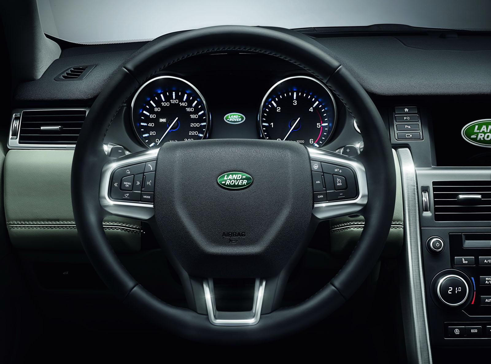 Land Rover Discovery Sport press shots steering
