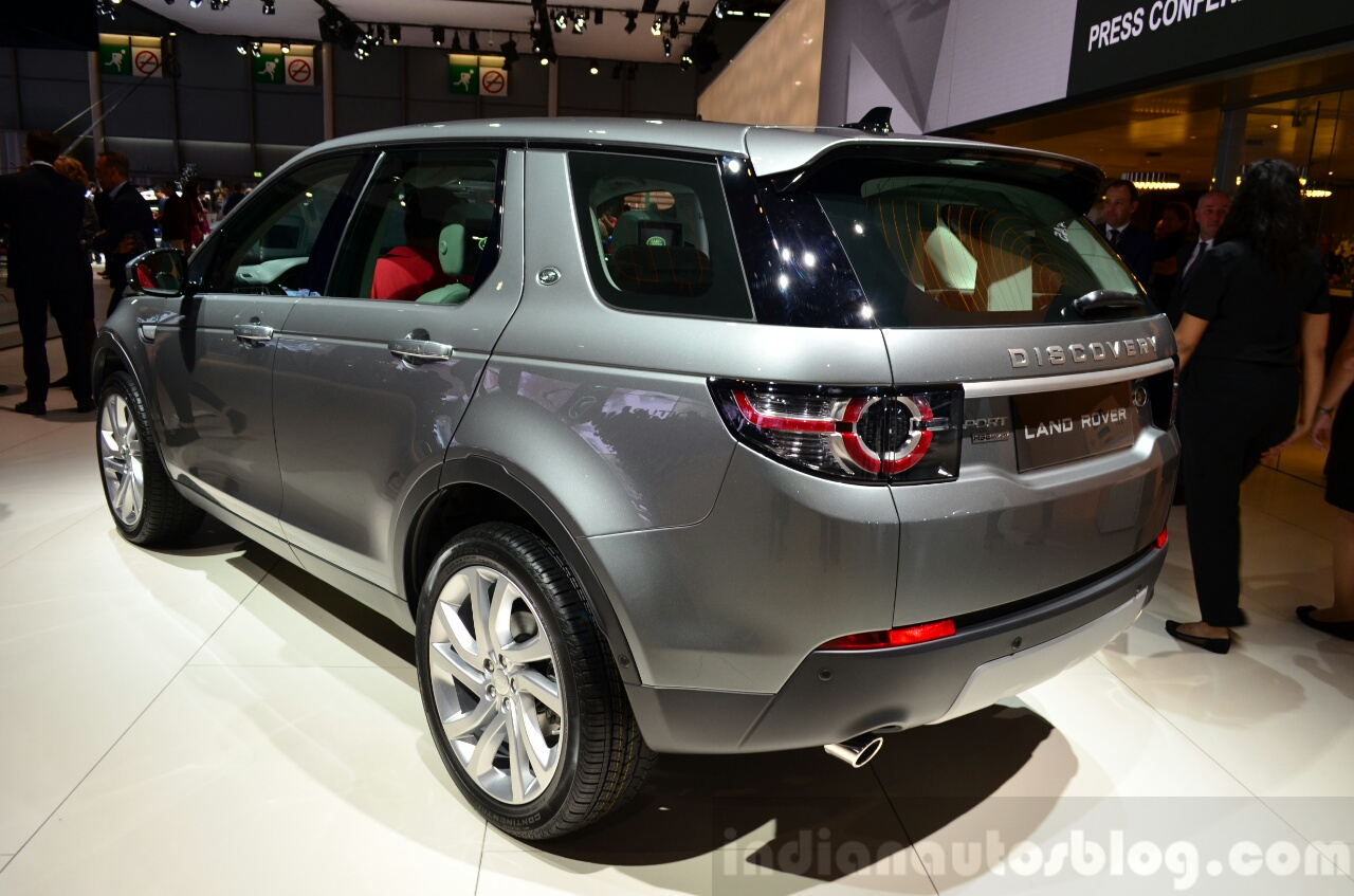 Land Rover Discovery Sport rear three quarters view at the 2014 Paris Motor Show