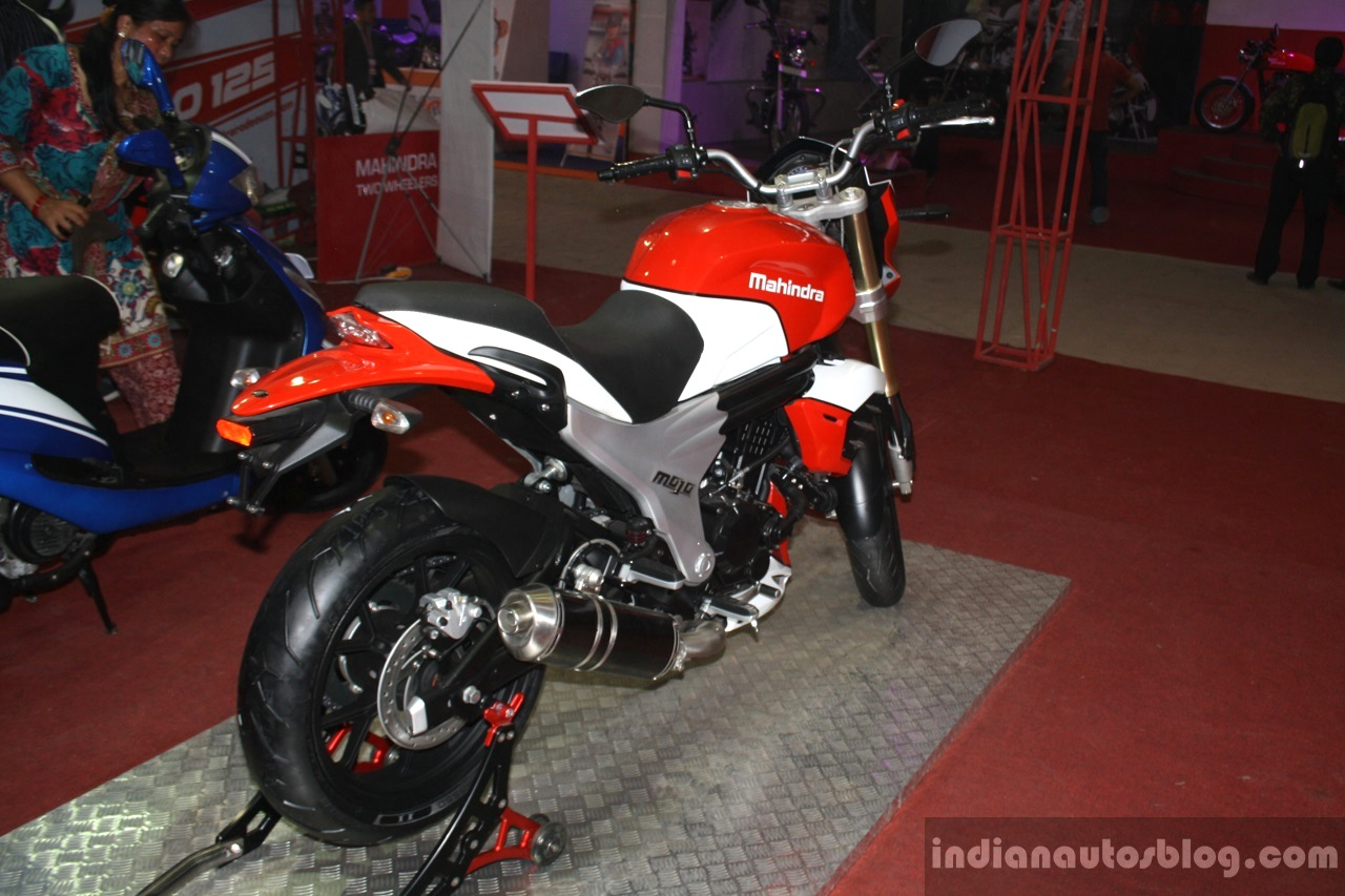 Mahindra Mojo rear three quarters at NADA 2014