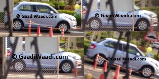 Maruti Dzire facelift spied side angle