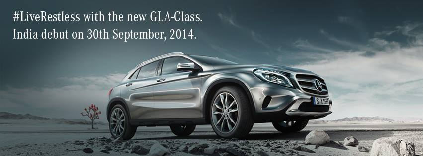 Mercedes GLA India launch teaser