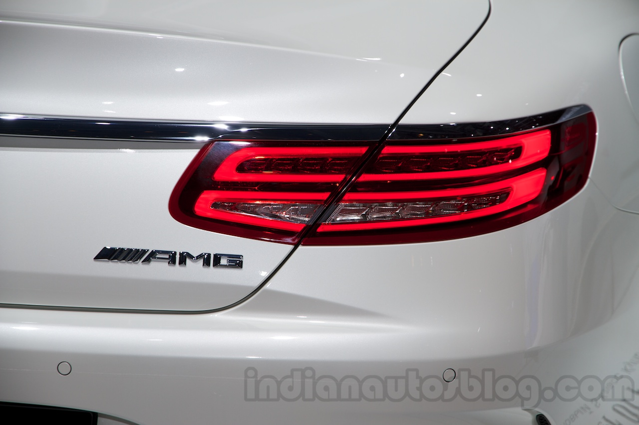 Mercedes S65 AMG Coupe taillight at Moscow Motor Show 2014