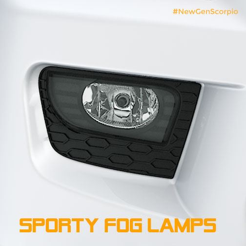 New Mahindra Scorpio foglamp teaser
