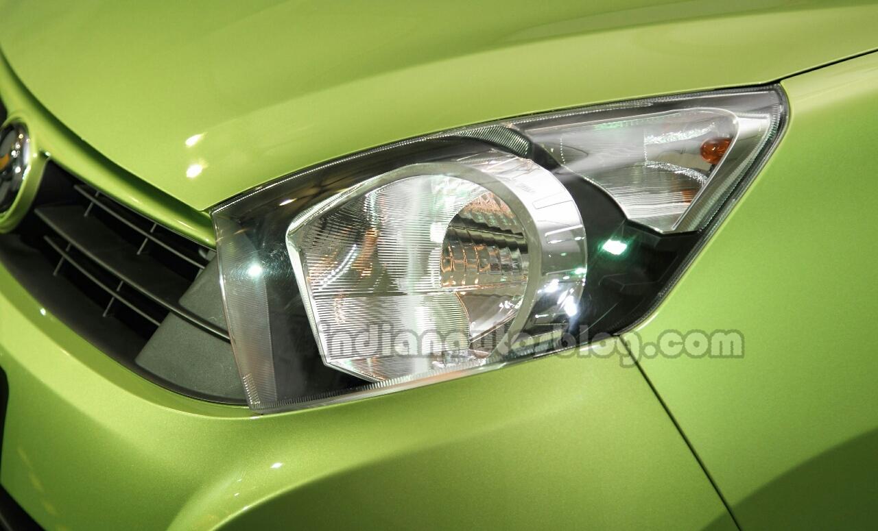 Perodua Axia headlamp at the Malaysian launch