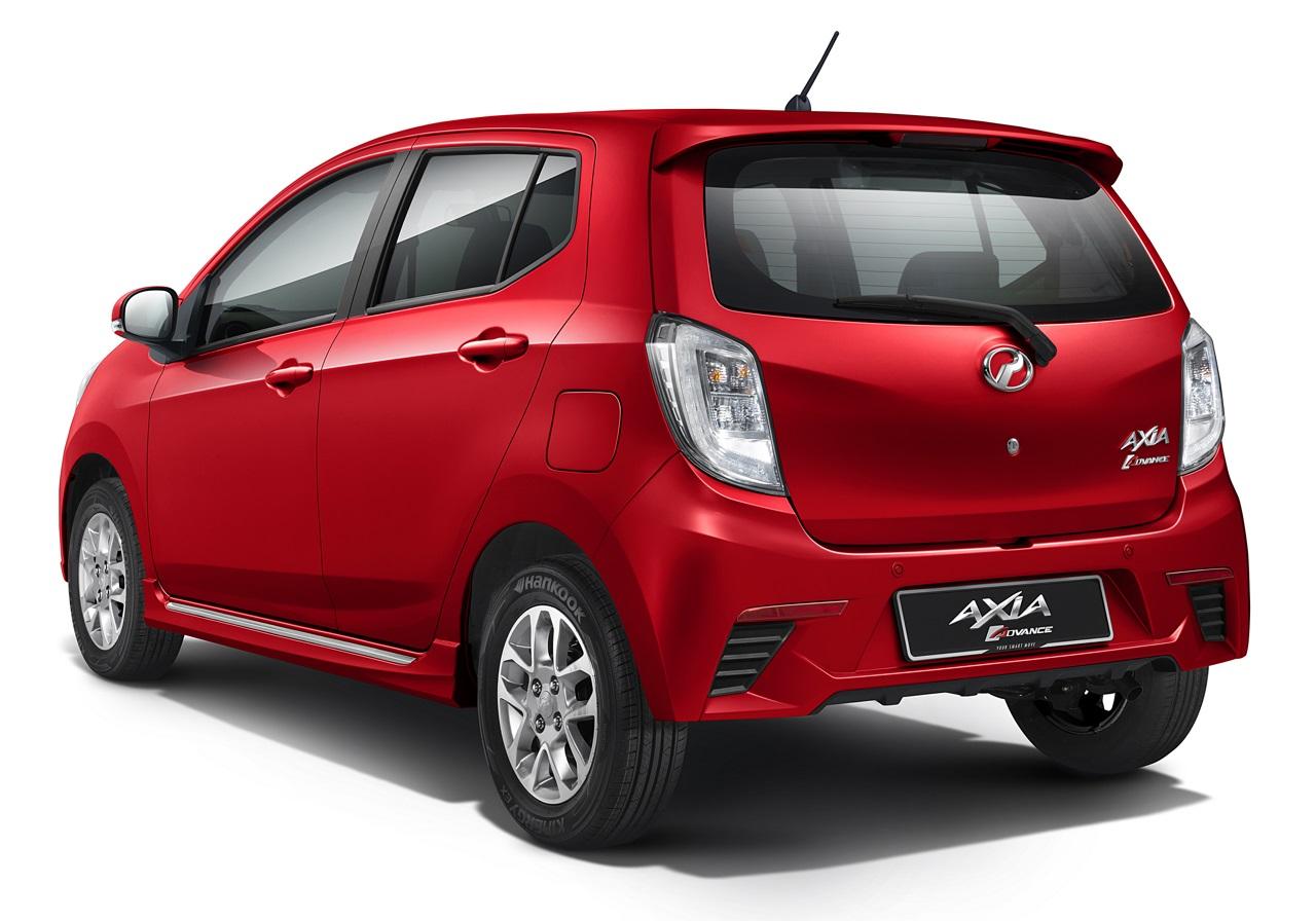 Perodua Axia press shot Advance rear three quarter