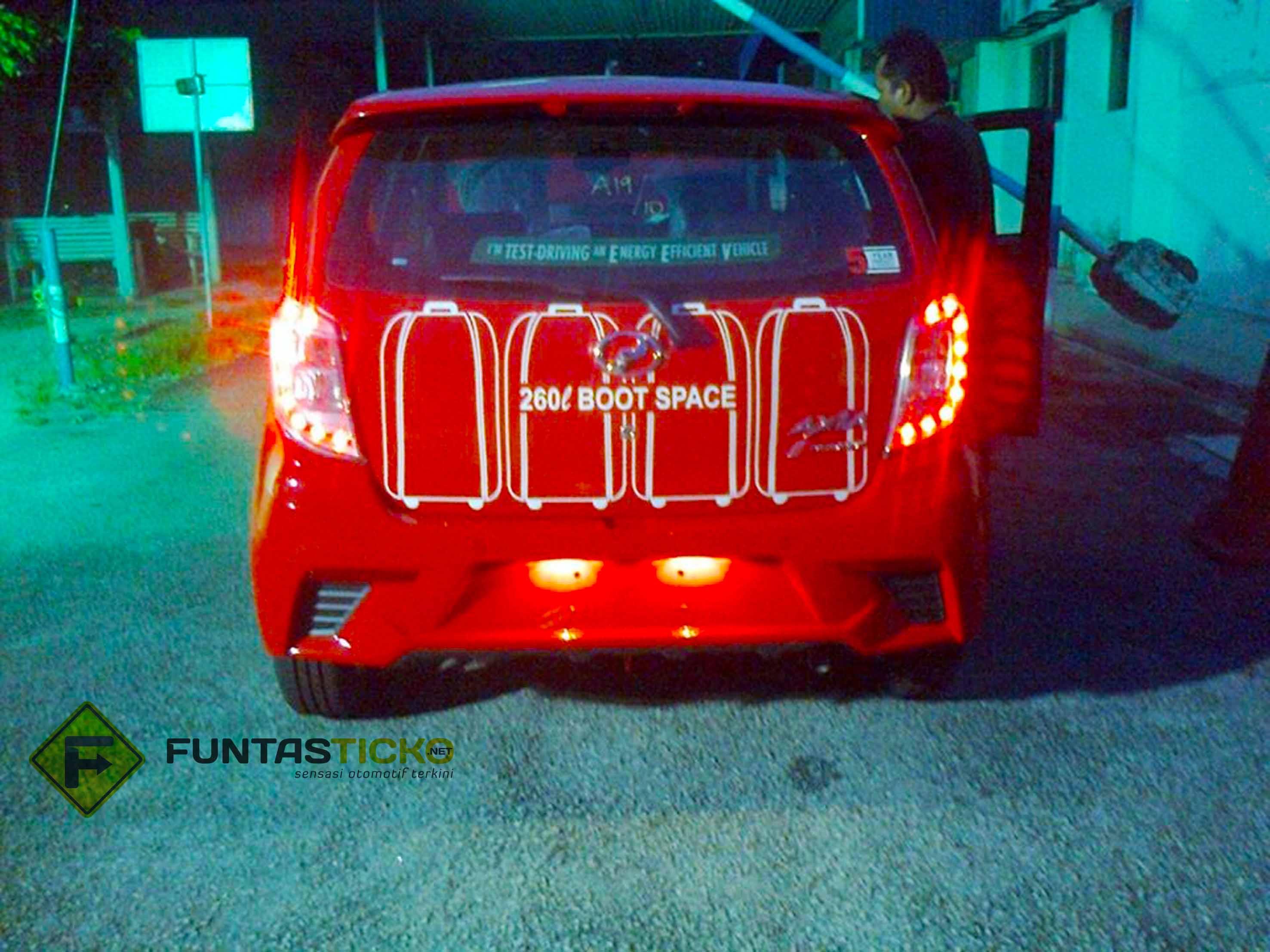 Perodua Axia spied in Malaysia Advance demo car rear