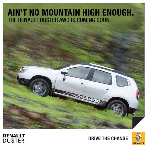 Renault Duster AWD India press shot side