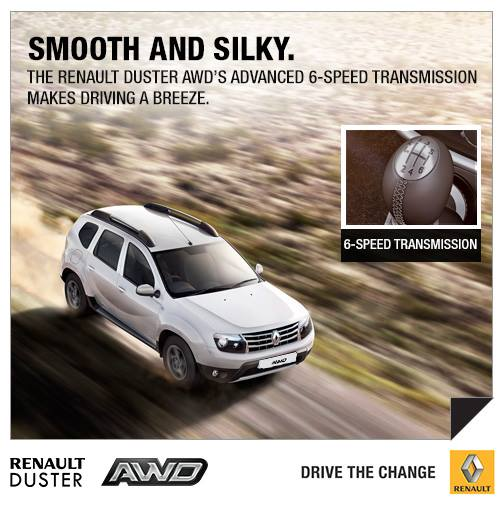 Renault Duster AWD India press shot top