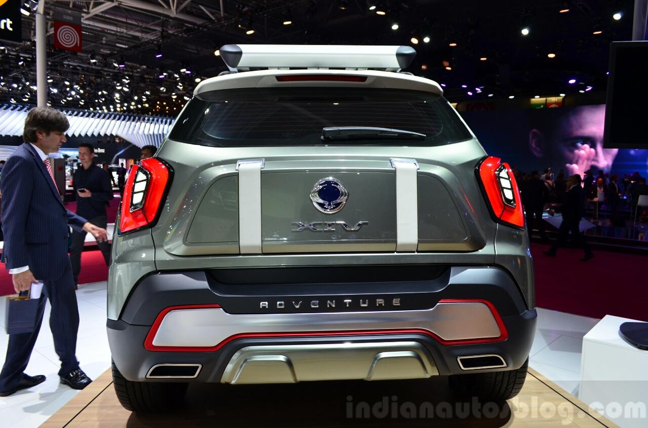 Ssangyong XIV-Adventure Concept rear at the 2014 Paris Motor Show
