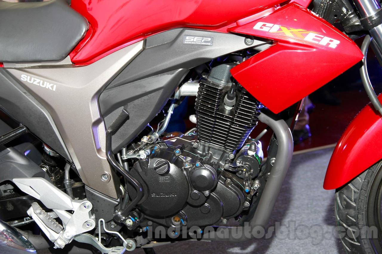 Suzuki Gixxer engine at the Indian launch