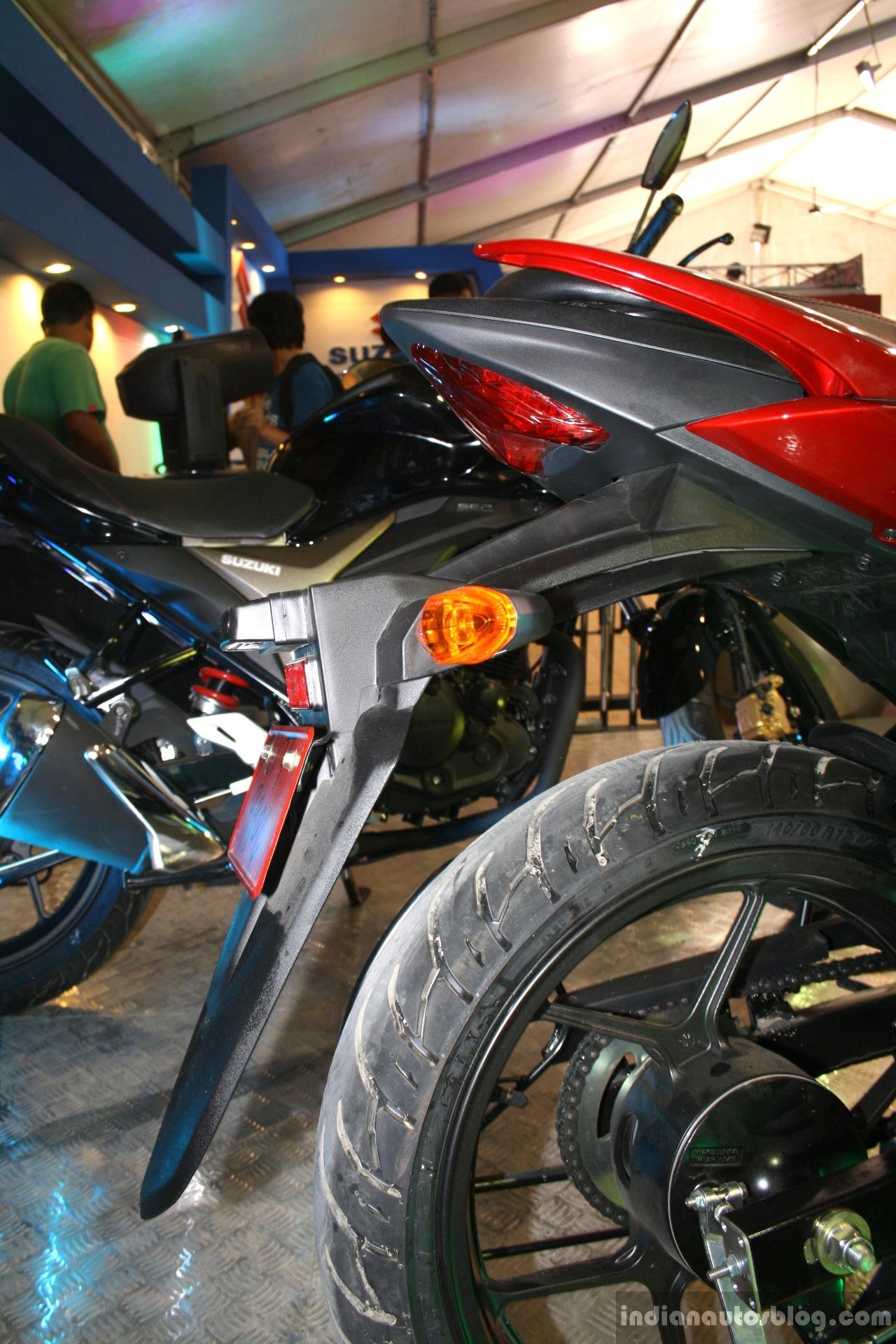 Suzuki Gixxer tail at the 2014 Nepal Auto Show