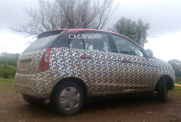 Tata Bolt spotted on test rear