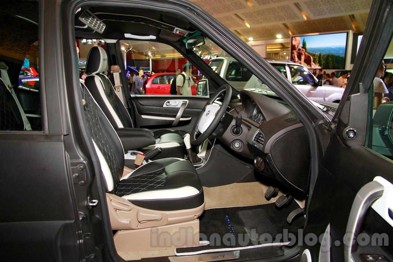 Tata Safari Storme Modified at the 2014 Indonesia International Motor Show front seat
