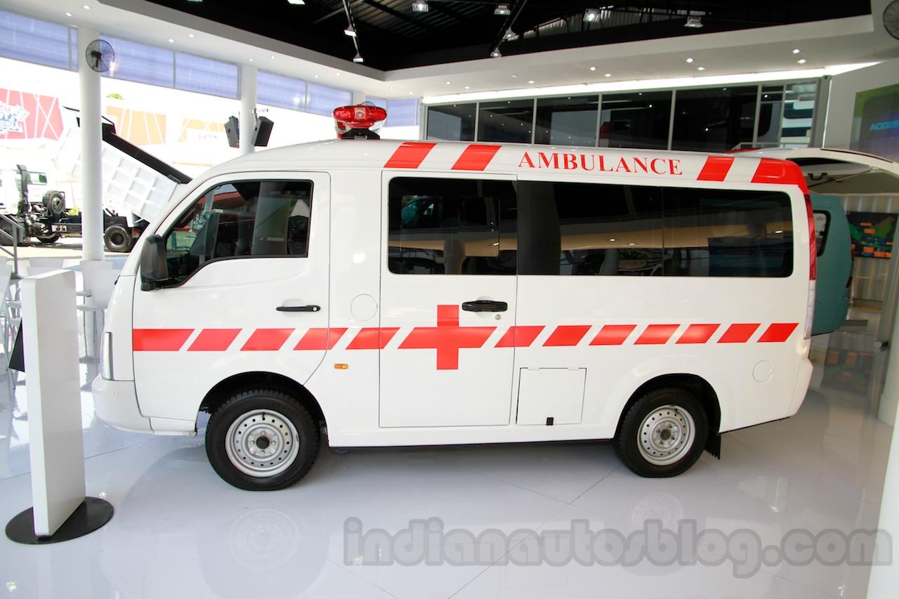 Tata Super Ace Ambulance at the 2014 Indonesia International Motor Show profile