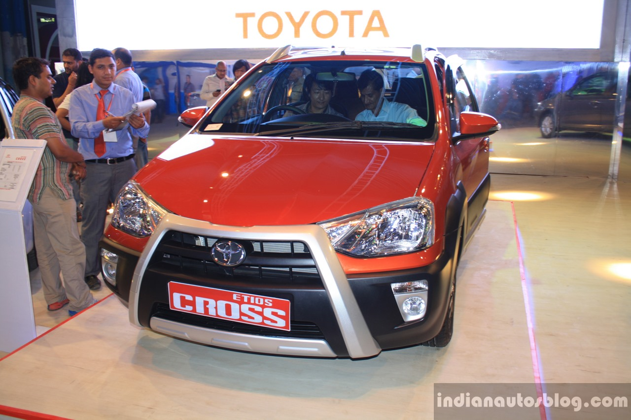 Toyota Etios Cross front at the 2014 NADA Auto Show Nepal