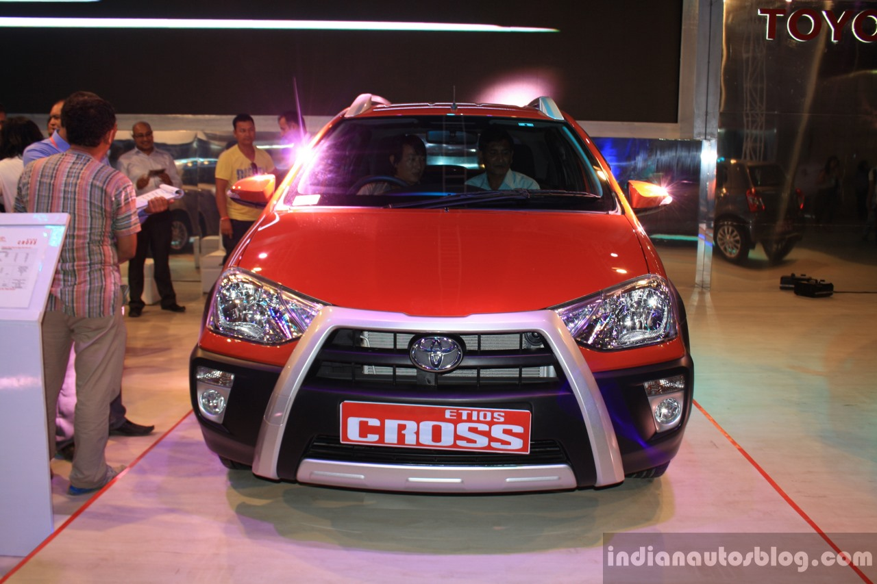 Toyota Etios Cross front fascia at the 2014 NADA Auto Show Nepal
