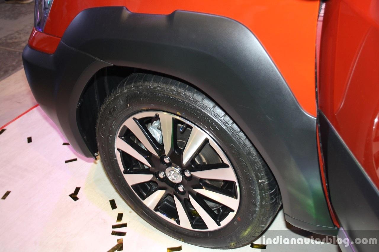 Toyota Etios Cross plastic wheel arch at the 2014 Nepal Auto Show