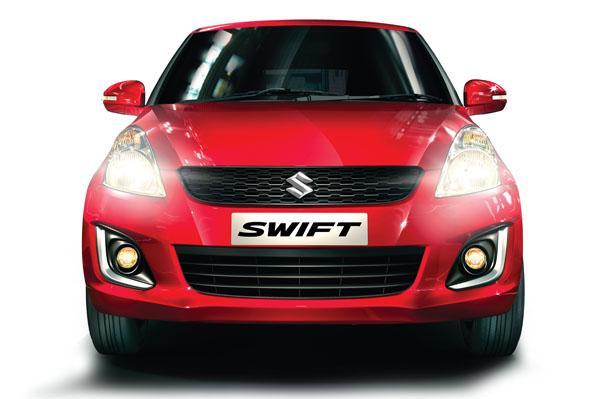 2015 Maruti Swift facelift front press shot