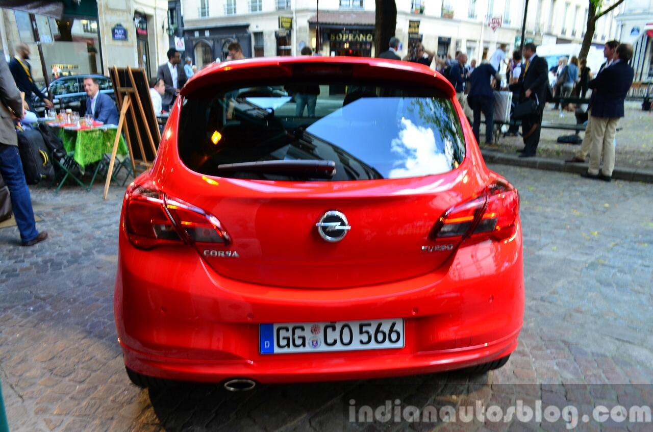 2015 Opel Corsa 3-door rear at the 2014 Paris Motor Show
