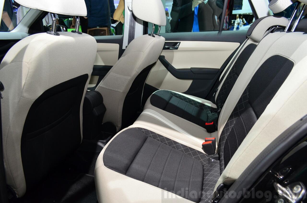2015 Skoda Fabia Combi rear seat at the 2014 Paris Motor Show
