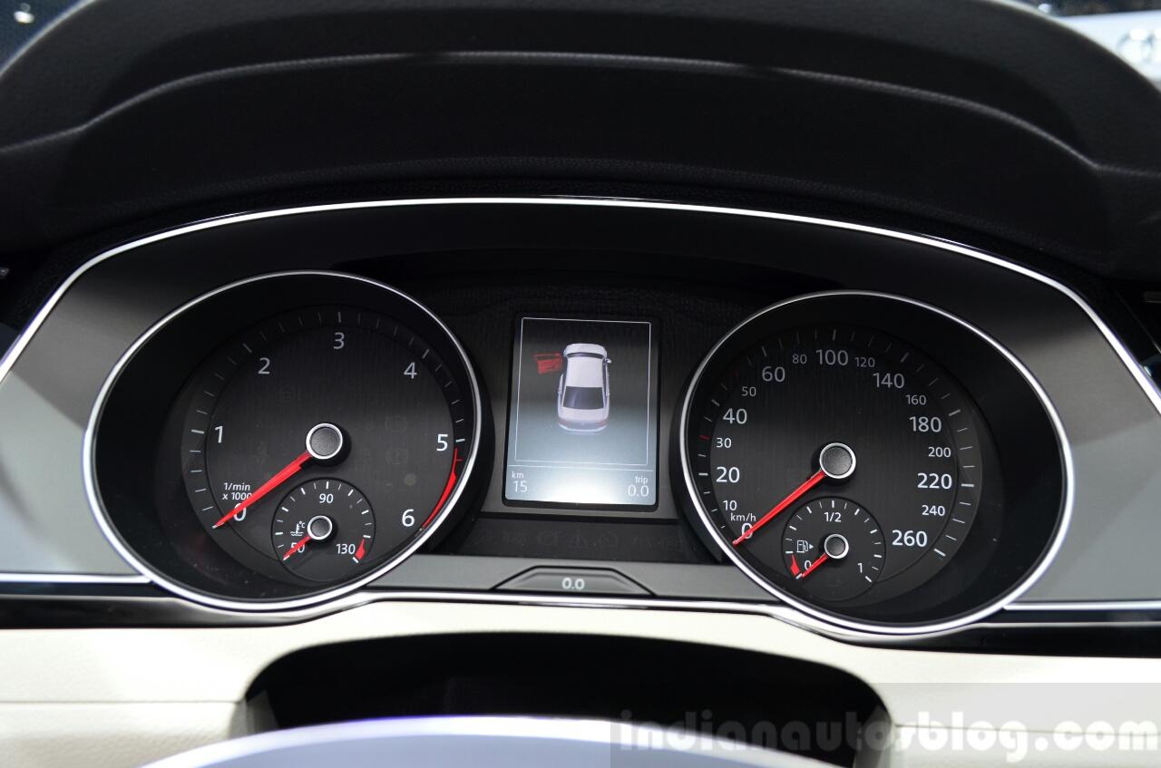 2015 VW Passat instrument binnacle at the 2014 Paris Motor Show