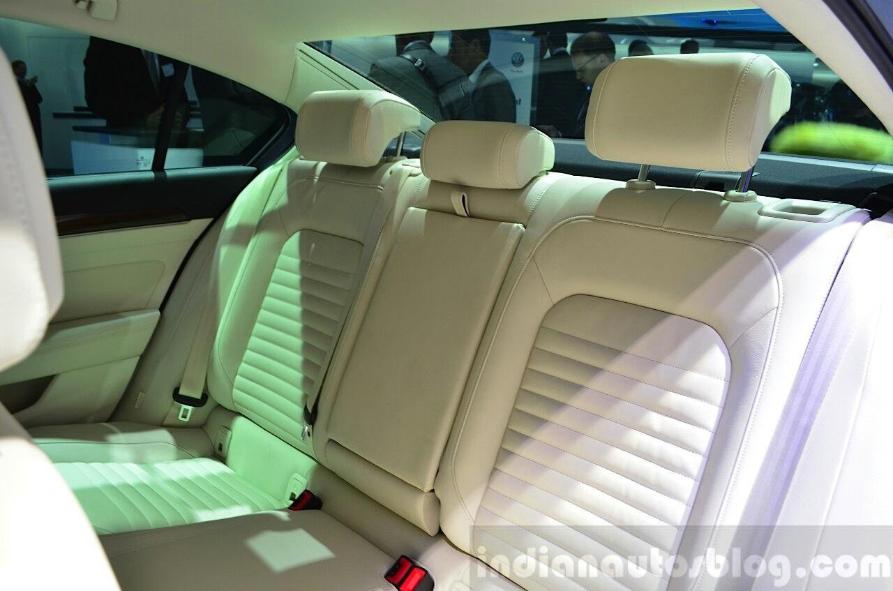 2015 VW Passat rear seat back rest at the 2014 Paris Motor Show