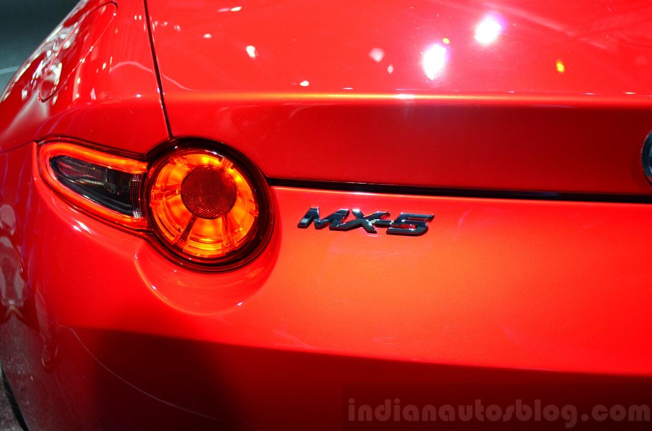 2016 Mazda MX-5 Miata taillamp at the 2014 Paris Motor Show