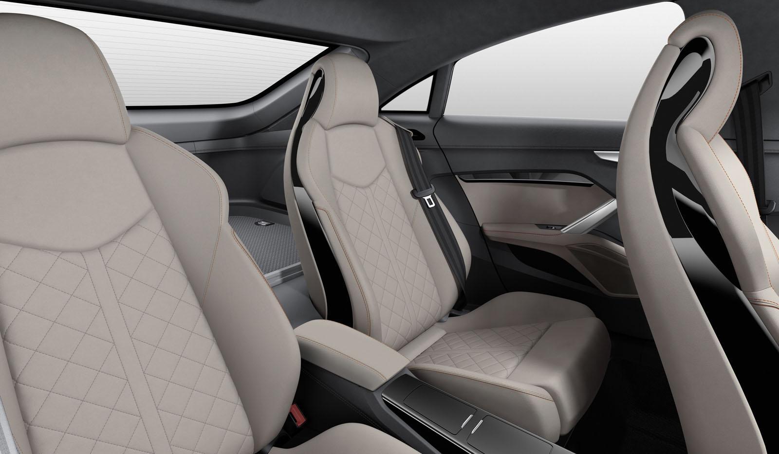 Audi Tt Sportback Concept Rear Seats Press Shot