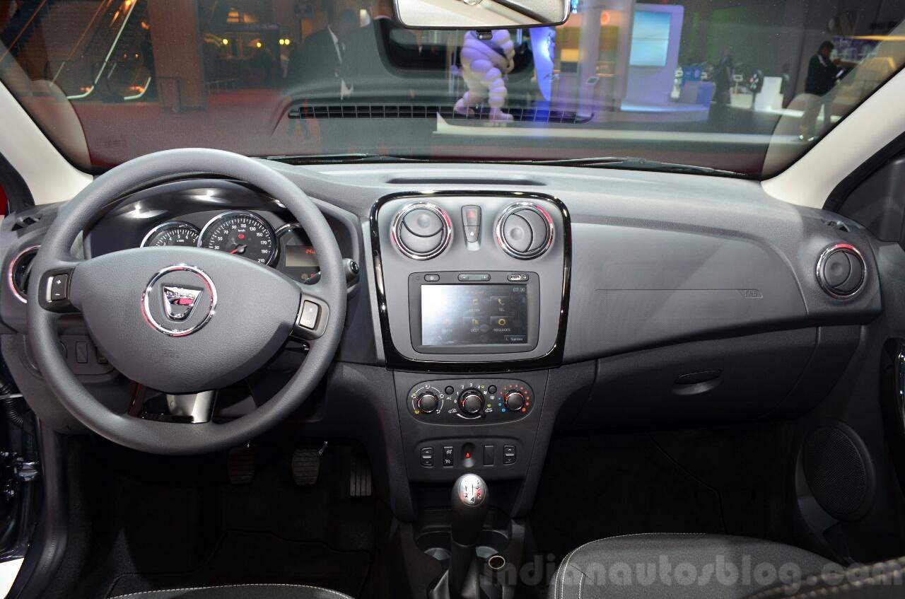 Dacia Sandero Black Touch dashboard at the 2014 Paris Motor Show