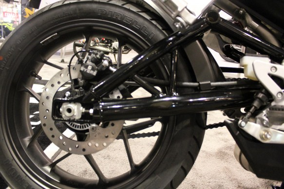Hero HX250R at AIMExpo rear wheel