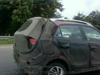 Hyundai Elite i20 Cross taillights spied