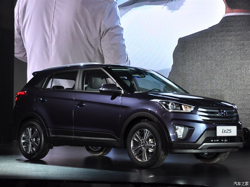 Hyundai ix25 launched in China front three quarter