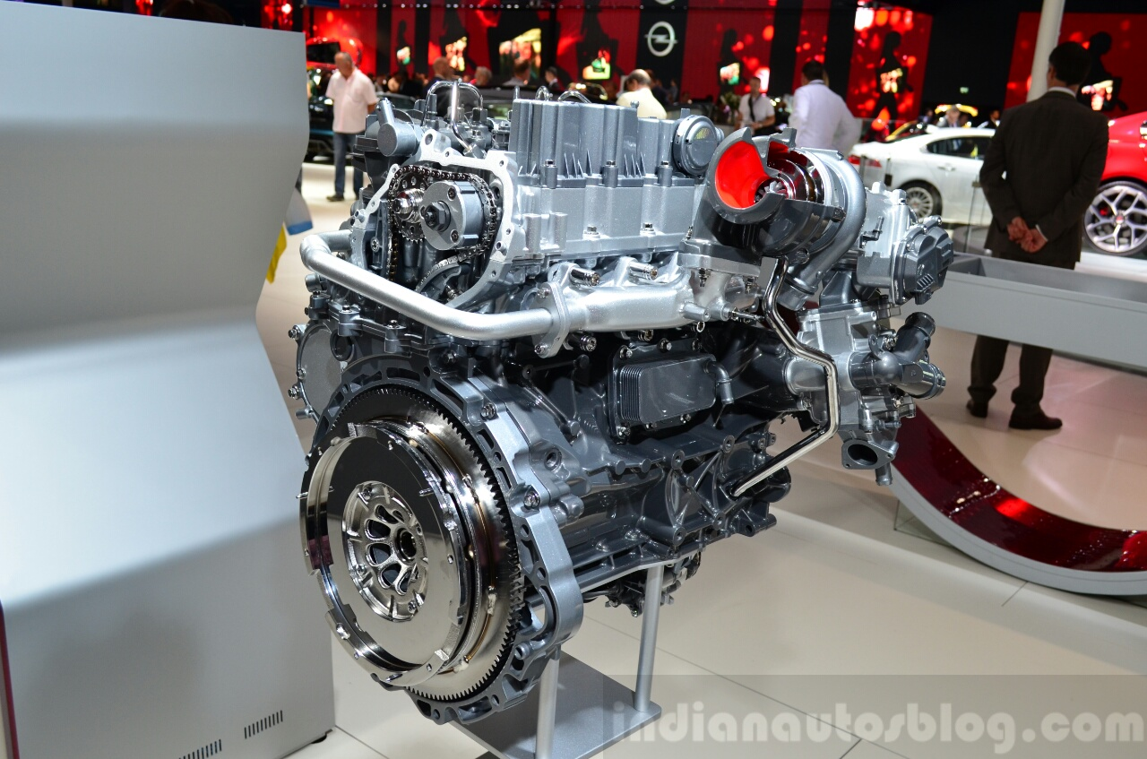 Jaguar Land Rover Ingenium engine showcased at the 2014 Paris Motor Show