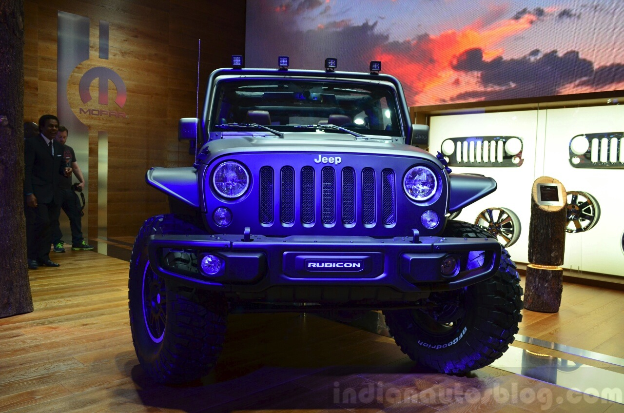 "Jeep Wrangler Unlimited Rubicon ""Stealth"" show car front at the 2014 Paris Motor Show"