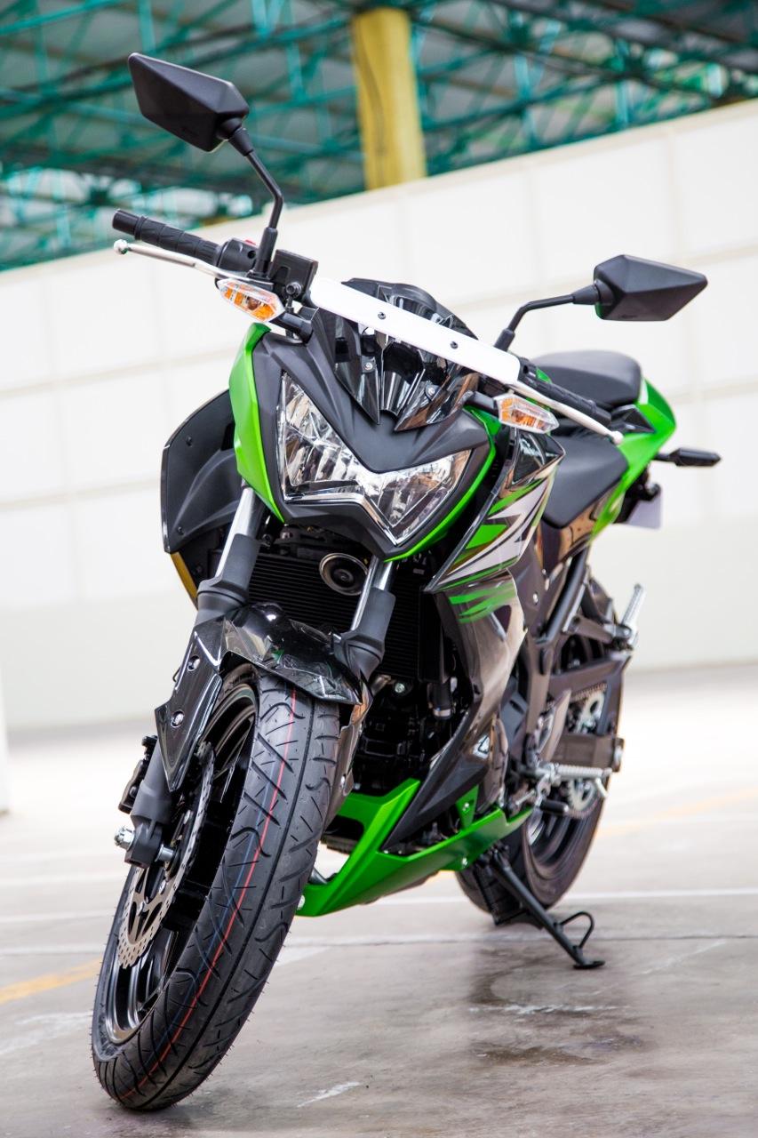 Kawasaki Z250 front view in India