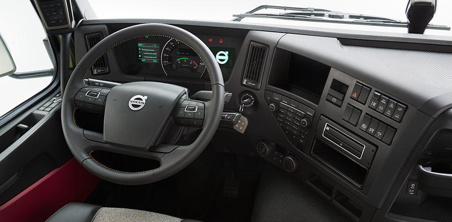 New Volvo FMX cockpit